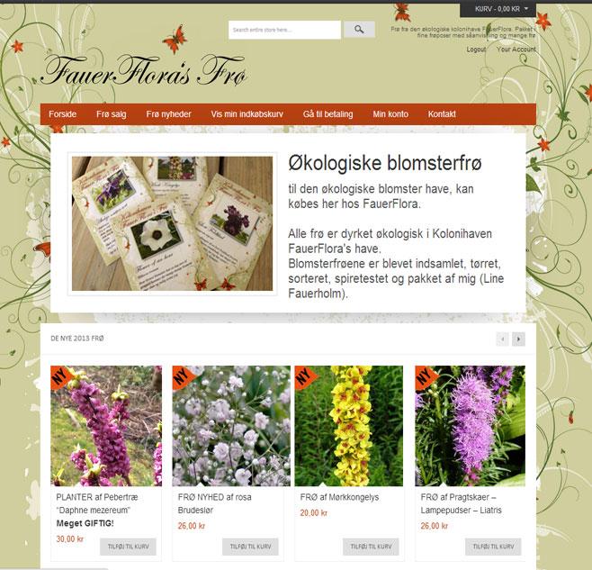 Blomsterfrø webshop