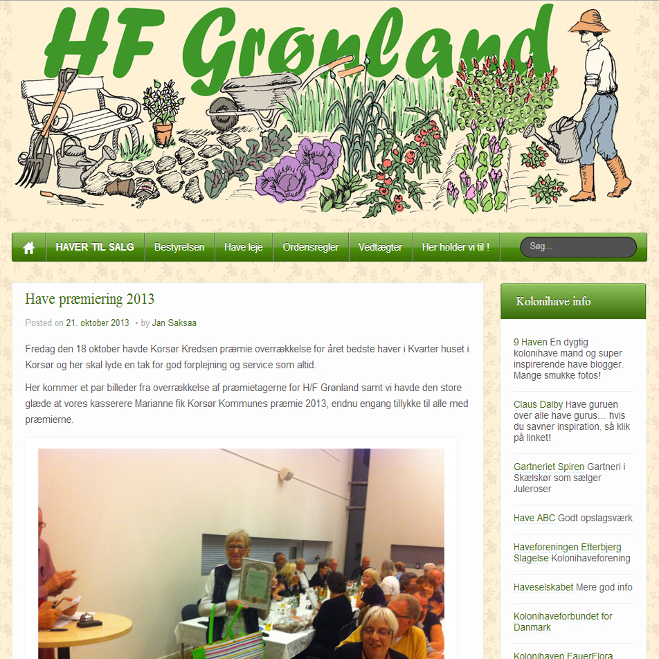 HF Grønland - et haveforenings website