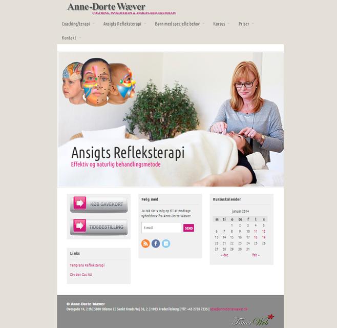 Redesign af Anne-Dorte Wæver's hjemmeside