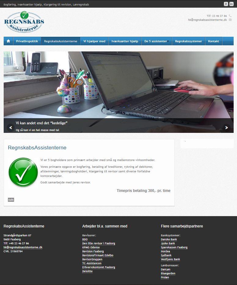 Regnskabsassisten hjemmeside