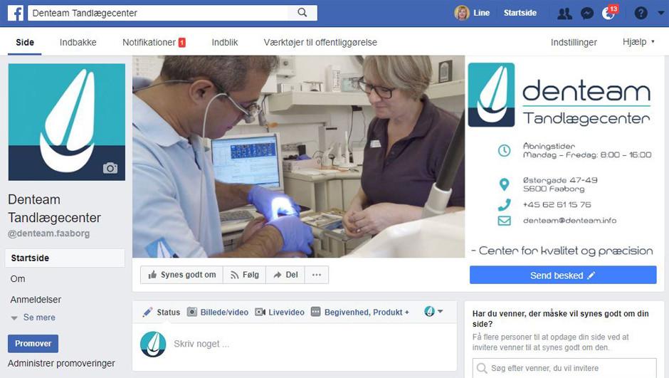 Hjælp til Facebook side FauerWeb Webbureau