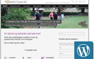 Health Coach hjemmeside