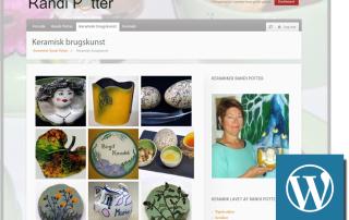 Randi Potter wordpress website