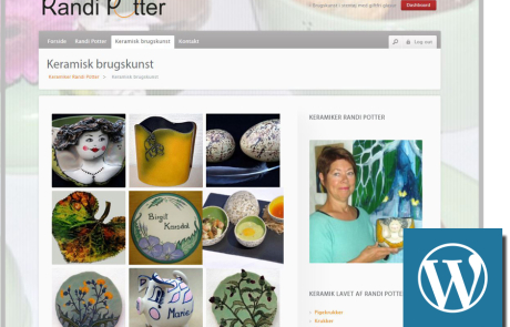 Randi Potter wordpress website
