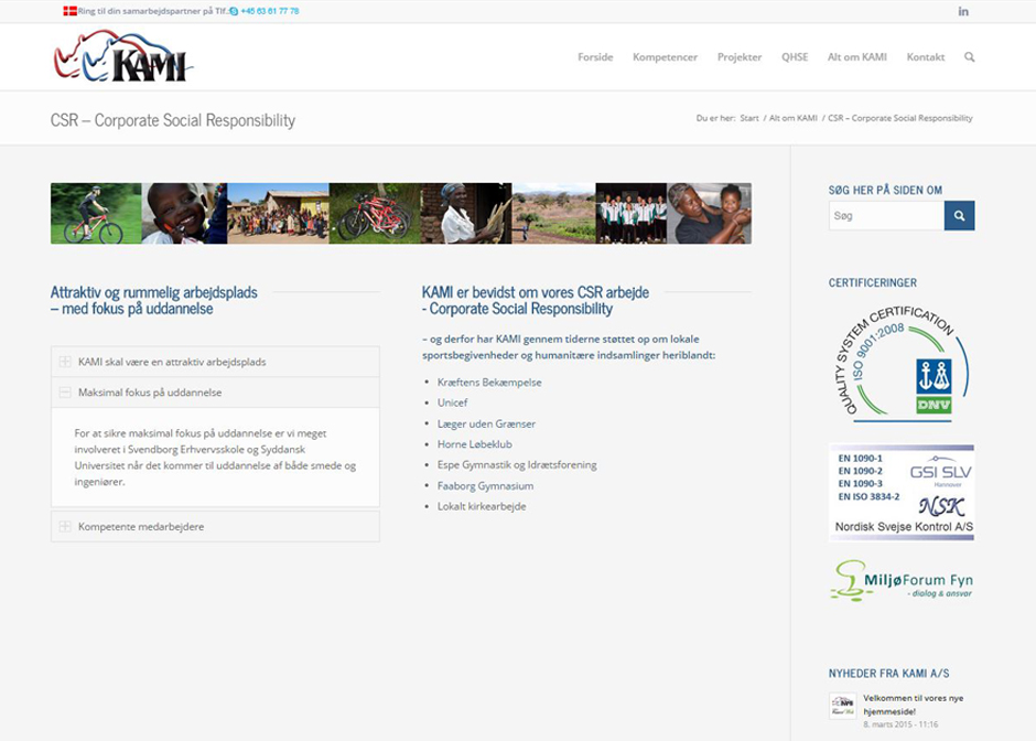 Kami får udviklet webbdesign af FauerWeb