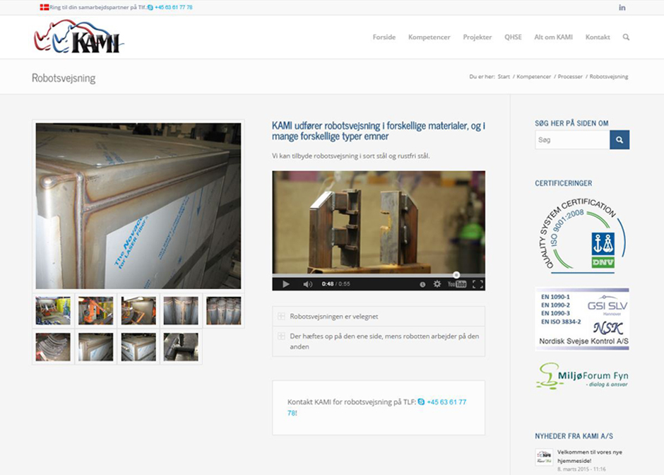 FauerWeb Webbureau laver website til Kami i Faaborg