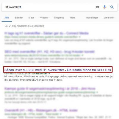 Overskrifter til søgemaskineoptimering