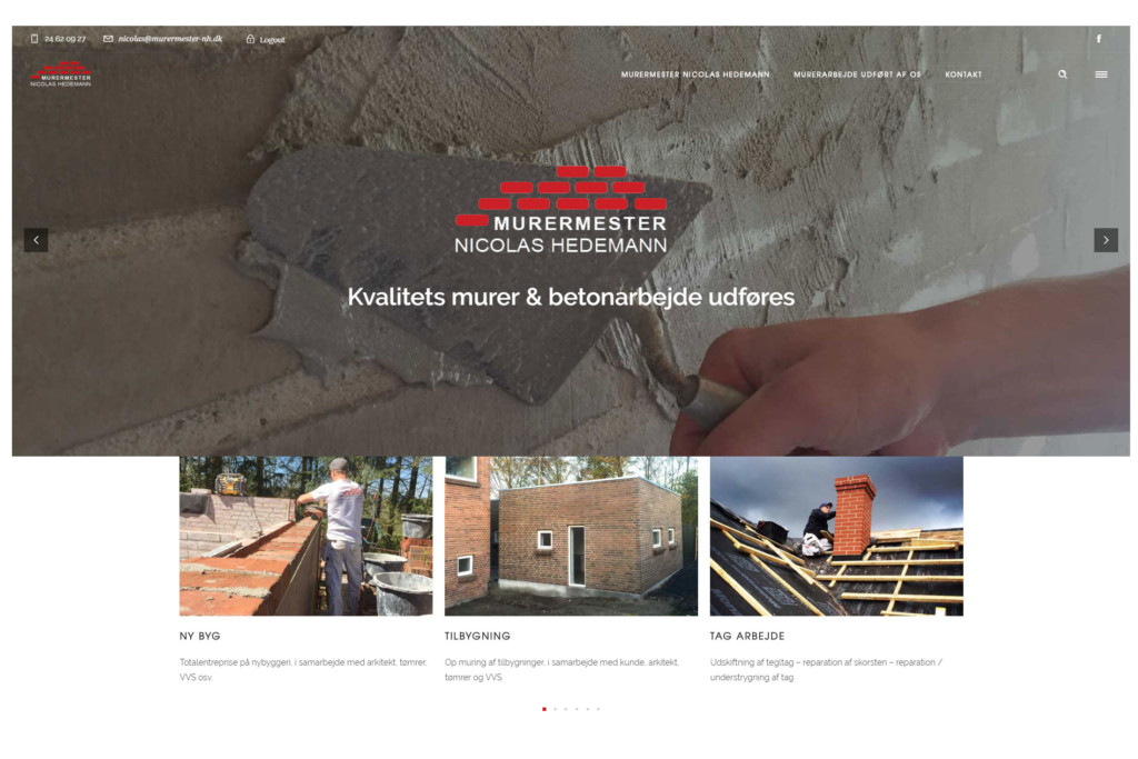 Website til håndværker