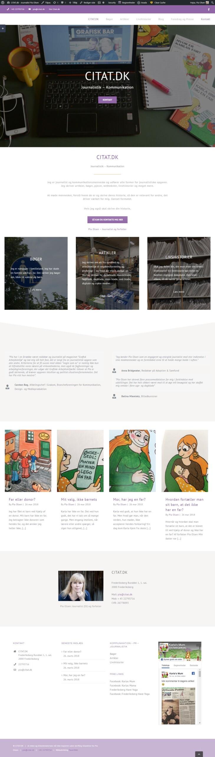 Websted til journalist med online pdf bladre funktion