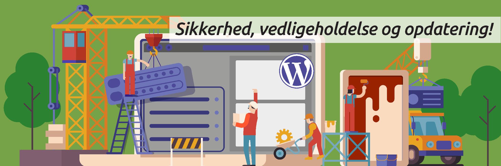 Opdatering af Wordpress website