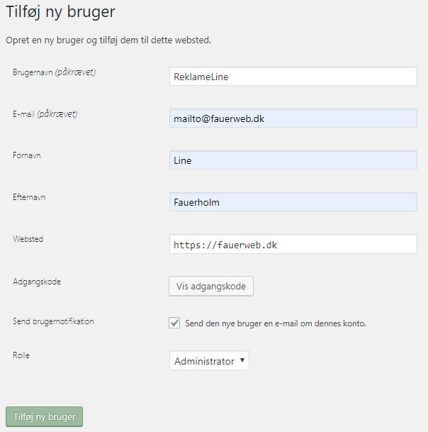 Login bruger 123 hjemmeside User Login