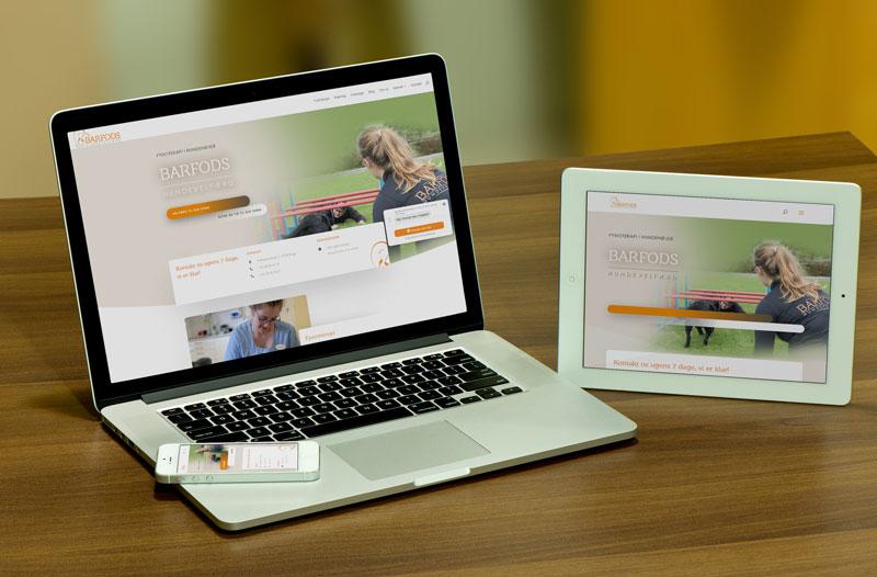 Klik for at se hjemmeside design responsive, dvs. flot design på alle typer medier